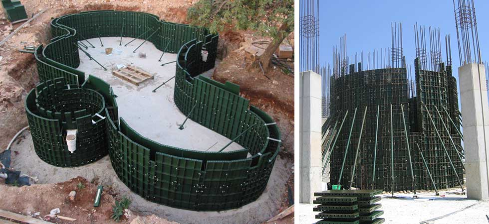 Scaffolding Pafili Cyrpus - Steel Formwork for Swiming Pool